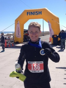 Fresh off the finish line of marathon #15 - Ocean Drive Marathon; NJ